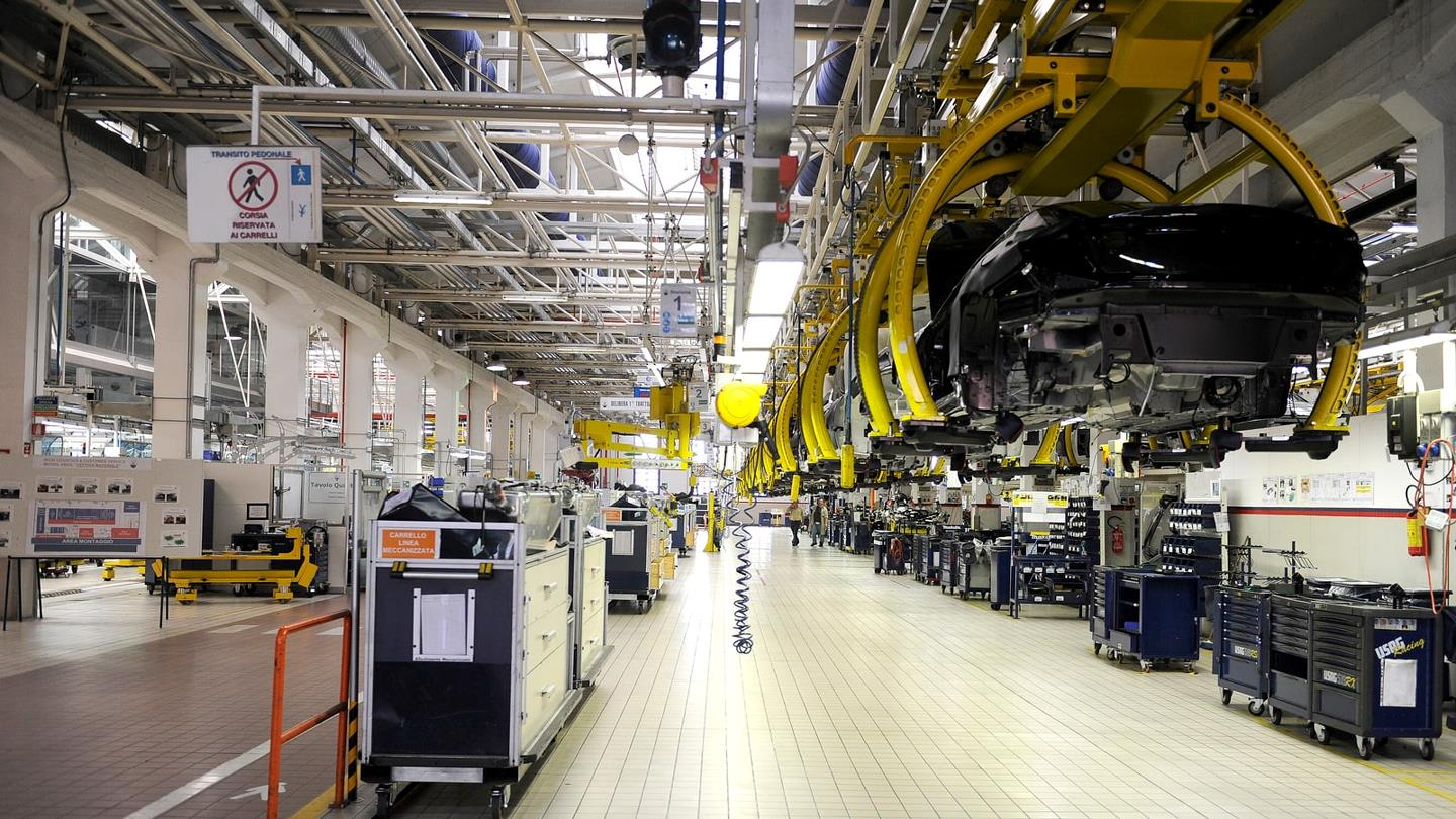 Zone de production chez Maserati