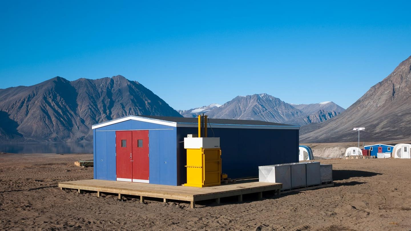 Bramidan drum press outside Zackenberg research station in Northeast Greenland